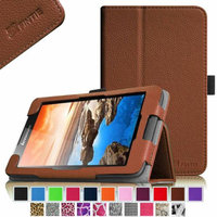 Fintie Lenovo IdeaTab A7-50 / A7-40 7-Inch Android Tablet Folio Case - Premium Leather Stand Cover, Brown