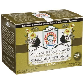 Tadin Herb and Tea Tadin Tea, Manzanilla/Anis (Chamomile with Anisse) Tea, 24-Count Tea Bags (Pack of 12)