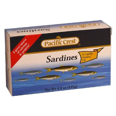 Pacific Crest Sardines in Lightly Smoked Oil - EZ Open, 4.4-Ounce (Pack of 50)