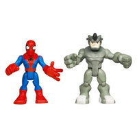 Spiderman Marvel Spider-Man Adventures Playskool Heroes Spider-Man and Rhino -