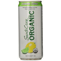 Santa Cruz Organic Lemon Lime Flavored Sparkling Beverage, 4-count, 10.5 Ounce (Pack of 6)