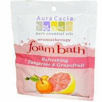 Aura Cacia Foam Bath Refeshing Tangerine and Grapefruit 2.5 oz Case of 6