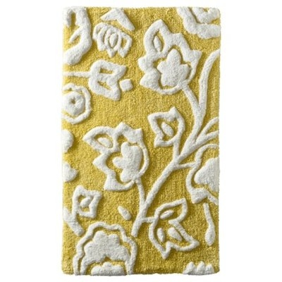 Threshold™ Floral Bath Rug - Yellow