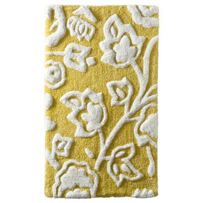 Threshold™ Floral Bath Rug - Yellow