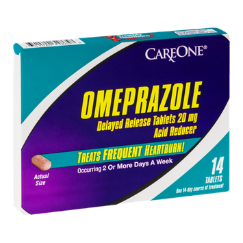 CareOne Omeprazole Delayed Release Heartburn Tablets - 14 CT