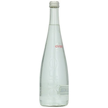 Evians Spring Water, Spring Water, Naturl, Glass, 12/25.4 Oz