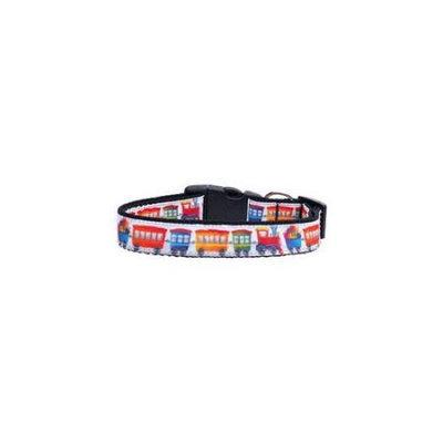 Ahi Trains Ribbon Dog Collars Large