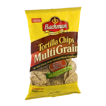Bachman Deli Style Tortilla Chips Multi Grain