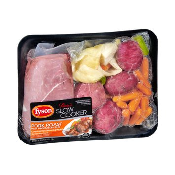 Tyson Ready For Slow Cooker Pork Roast with Vegetables Kit