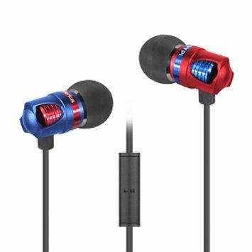 ID America IDH101-BLK Spark In-Ear Headphones, Blue, 1 ea