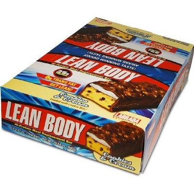 Labrada Nutrition Lean Body Bars, Cookies & Cream, 29.64-Ounce