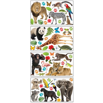 Paper House Productions, Inc Sticky Pix Removable & Repositionable Ultimate Wall Sticker Appliques - Zoo