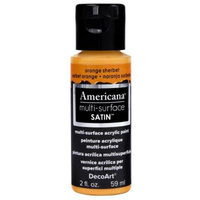 DecoArt Americana 2 oz. Orange Sherbet Satin Multi-Surface Acrylic Paint