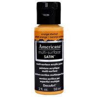 DecoArt Americana 2 oz. Orange Sherbet Satin Multi-Surface Acrylic Paint