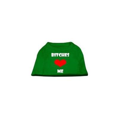 Ahi Bitches Love Me Screen Print Shirts Emerald Green Med (12)