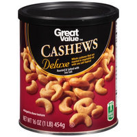 Great Value Deluxe Cashews, 16 oz