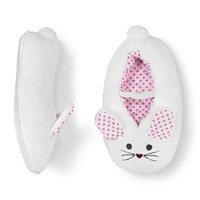 Circo Toddler Girl's Bunny Slipper Socks - White 4T/5T