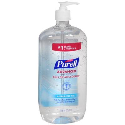 Purell Advanced Hand Sanitizer, Pump, Original, 33.8 oz.