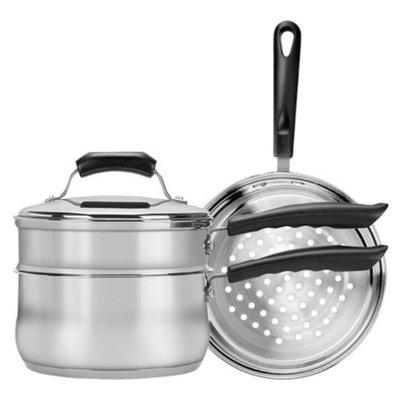 Range Kleen Double Boiler Steamer Insert Set - Silver (3 Quart)