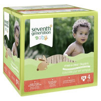 Seventh Generation Free and Clear Baby Diapers - 54 Count (Size 4)