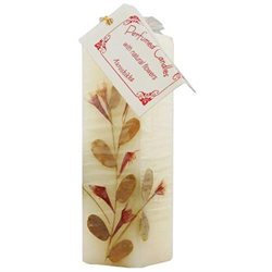 Auroshikha Candles & Incense Auroshikha Candles and Incense, Flower Candle, Jasmine Square 1 1/2 x4 3/4