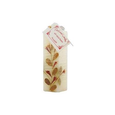 Auroshikha Candles & Incense Auroshikha Candles and Incense, Flower Candle, Jasmine Square 1 1/2 x4 3/4