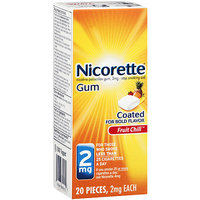NICORETTE 2MG FRUIT COATED GUM 20 CT.
