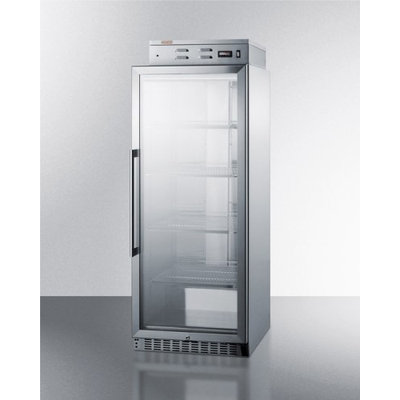 Summit PHC115G Puretherm Blanket Warming Cabinet with Digital Thermostat Chrome Shelves in Stainless Steel