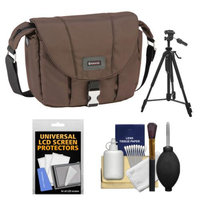 Tamrac 5422 Aria 2 Compact DSLR / ILC Camera Shoulder Bag (Brown) with Tripod + Cleaning Kit