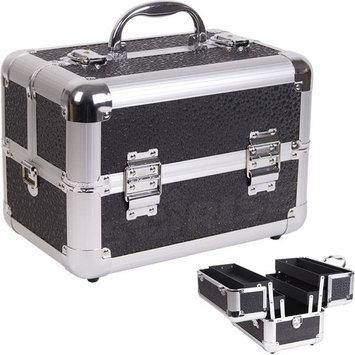 Casemetic 2 Tiers Black Polka Dot Pattern Makeup Train Case