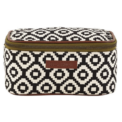 Bella Taylor Pier 29 Cosmetic Case Makeup Bag Overnight Kit Travel 4x8x4.5'