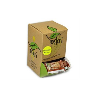 Oskri Coconut Original w/ Milk Chocolate, 0.88 oz Bars, 40 ct