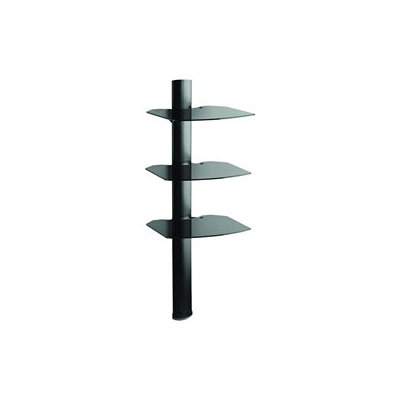 OmniMount Tria 3 AV Shelf Wall System, Black