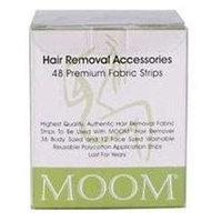 Moom - Hair Removal Premium Fabric Strips - 48 Strips