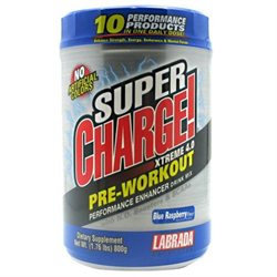 Labrada Nutrition Super Charge Xtreme N.O. - 1.76 lbs BlueRaspbry