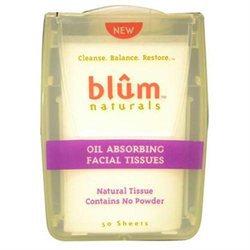 Blum Naturals Oil Absorbing Facial Tissues - 50 Sheets