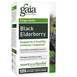 Gaia Herbs Black Elderberry, Liquid-Filled Capsules