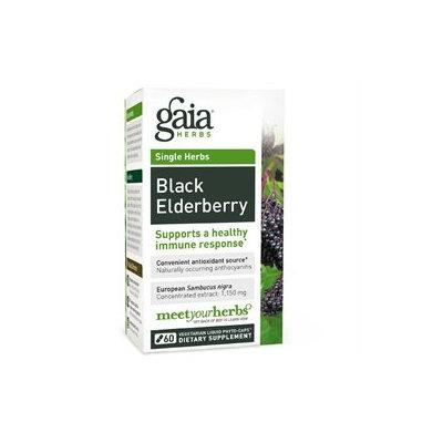 Gaia Herbs Black Elderberry, Liquid-Filled Capsules