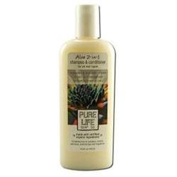 Pure Life Soap 0304048 Aloe 2-in-1 Shampoo and Conditioner - 15 fl oz