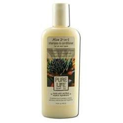 Pure Life Soap 0304048 Aloe 2-in-1 Shampoo and Conditioner - 15 fl oz