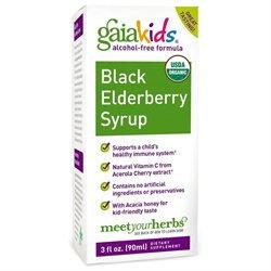 Gaia Herbs - GaiaKids Black Elderberry Syrup - 3 oz.
