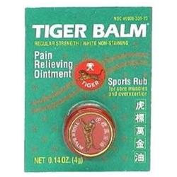 Tiger Balm Pain Relieving Ointment White Regular Strength .14 oz