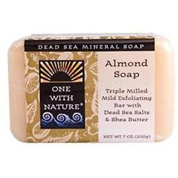 One With Nature Dead Sea Mineral Soap Almond 7 oz