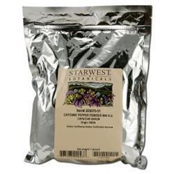 Starwest Botanicals Cayenne Pepper Powder 90K H.U.