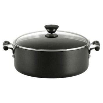 Circulon Acclaim Hard Anodized 7.5 Quart Covered Wide Stockpot - Black