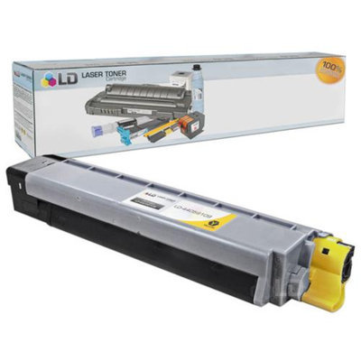 LD Okidata Compatible 44059109 (Type C14) Yellow Laser Toner Cartridge for the Oki C830