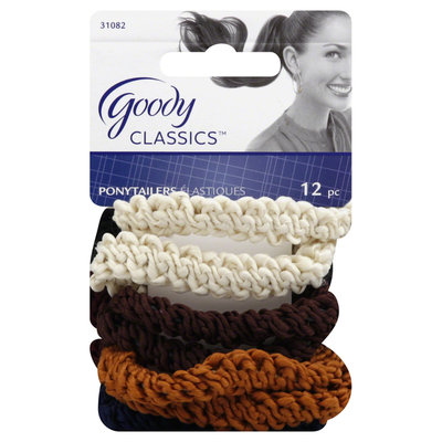 Goody Products Inc. Classics Rope Ponytailer, 12 CT
