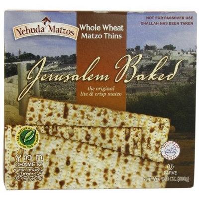 Yehuda Matzo Thins Matzo Thins Whole Wheat, 10.5-Ounce (Pack of 6)