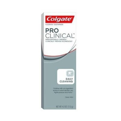 Colgate Pro Clinical Daily Cleaning Gel Toothpaste, 4-ounce Boxes (Pack of 4)