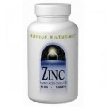 SOURCE NATURALS, Zinc Chelate 50 mg - 100 tabs